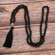 Natural Volcanic Rocks Beads 108 Mala Knotted Yoga Meditation Necklace - Chakra Necklace - Chakra Galaxy