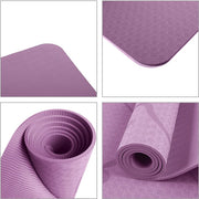 Non-Slip Purple Yoga Mat for Pilates Exercise with Position Line TPE - Yoga Mats - Chakra Galaxy