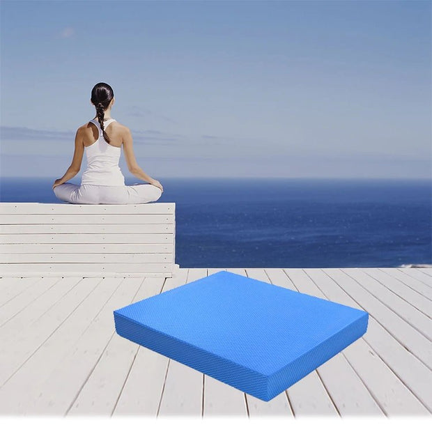 Ocean Blue Best Yoga Non-Skid Balance Pad for Core Strengthening TPE - Yoga Mats - Chakra Galaxy