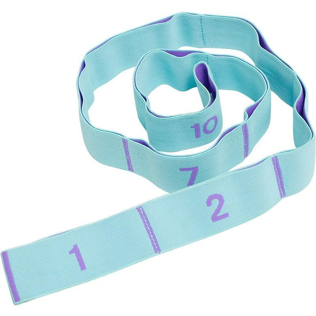 Paled Turquoise 8 Segments Yoga Workout Stretch Strap For Dynamic Stretches - Yoga Straps - Chakra Galaxy