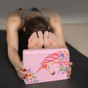 Pink Unicorn High-Density EVA Foam Gym Pilates Yoga Block - Yoga Blocks - Chakra Galaxy