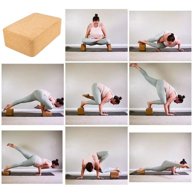 Plain Eco-Friendly Cork Yoga Block for Restorative Yoga 1pc - Yoga Props - Chakra Galaxy