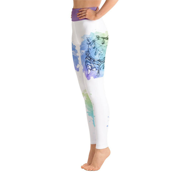 Purple Hip & Bohemian Dream Catcher Yoga Pants Leggings - Chakra Galaxy