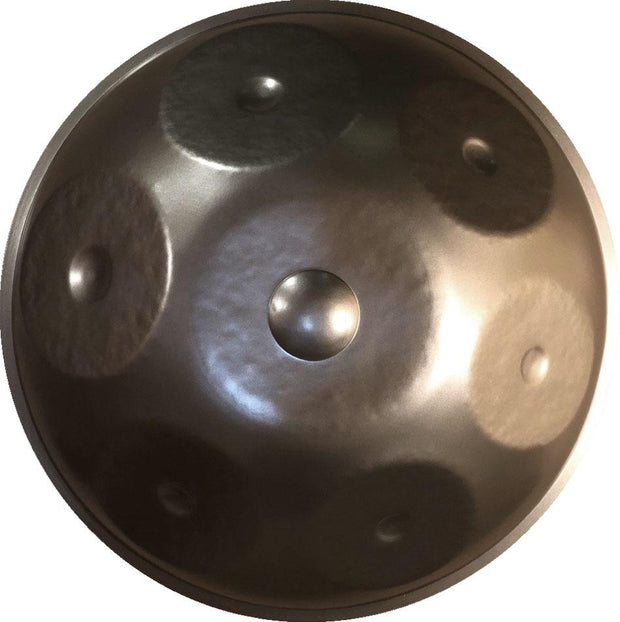 Raw Steel 7 Note Handpan in G Minor (Standard Diameter) - Handpans - Chakra Galaxy