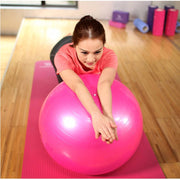 Spectacular Fuscia Pink Yoga Stability Ball for Cardio Burning - Yoga Props - Chakra Galaxy