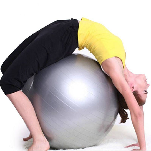 Staggering Flint Gray Yoga Medicine Ball for Core Strengthening - Yoga Props - Chakra Galaxy