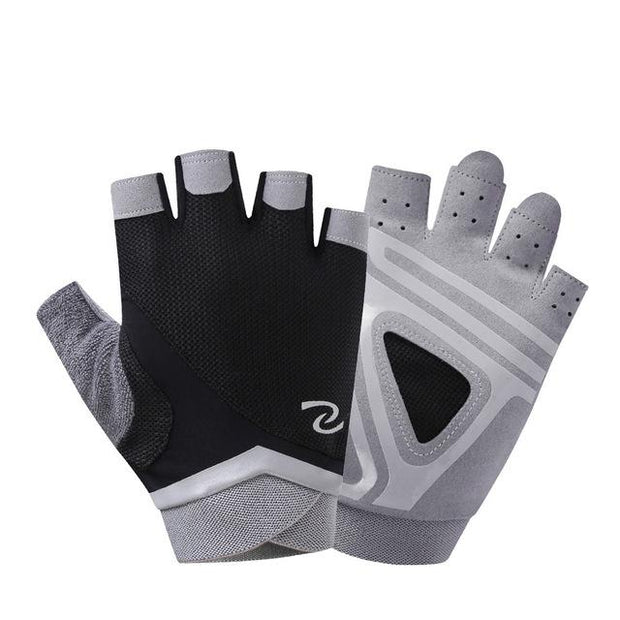 Stunning Pewter Gray Yoga Gloves for Injury Prevention with Silica Gels - Yoga Gloves - Chakra Galaxy