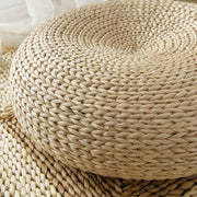 Thick Handmade Round Tatami Weave Natural Straw Meditation Chair - Meditation Seats & Cushions - Chakra Galaxy