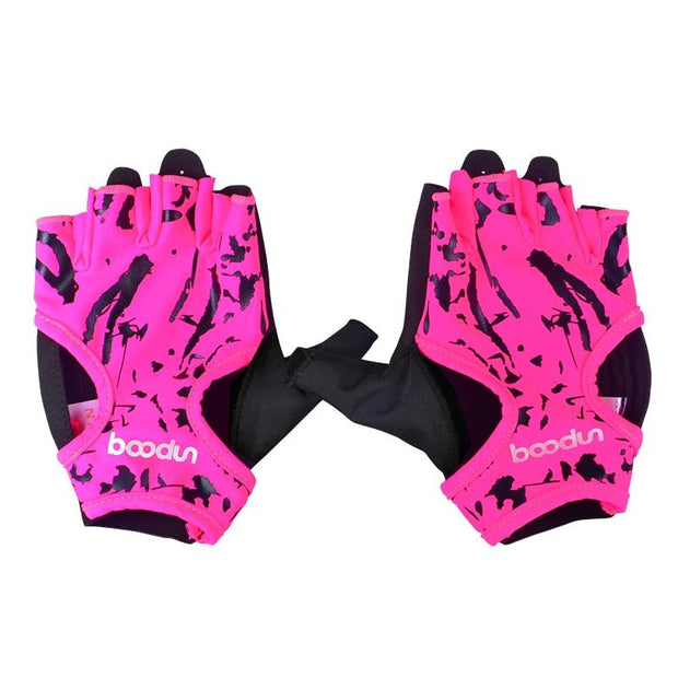 Ultramodern Fuscia Pink Yoga Workout Gloves for Injury Prevention - Yoga Gloves - Chakra Galaxy