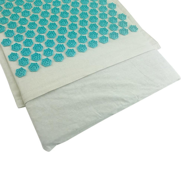Versatile Blue-Green Acupressure Massage Yoga Mat Pillow Set + Free Bag - Yoga Mats - Chakra Galaxy