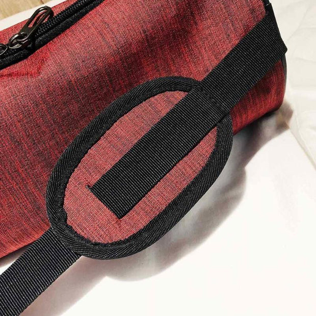 Waterproof Multi-pocket Double Zipper Red Yoga Mat Sports Shoulder Bag - Yoga Mat Bags - Chakra Galaxy