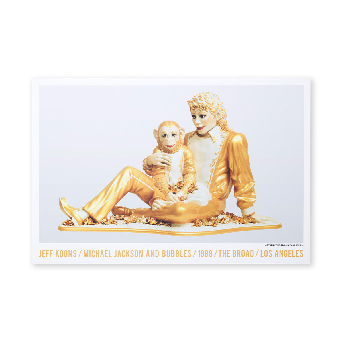 Michael Jackson and Bubbles Poster