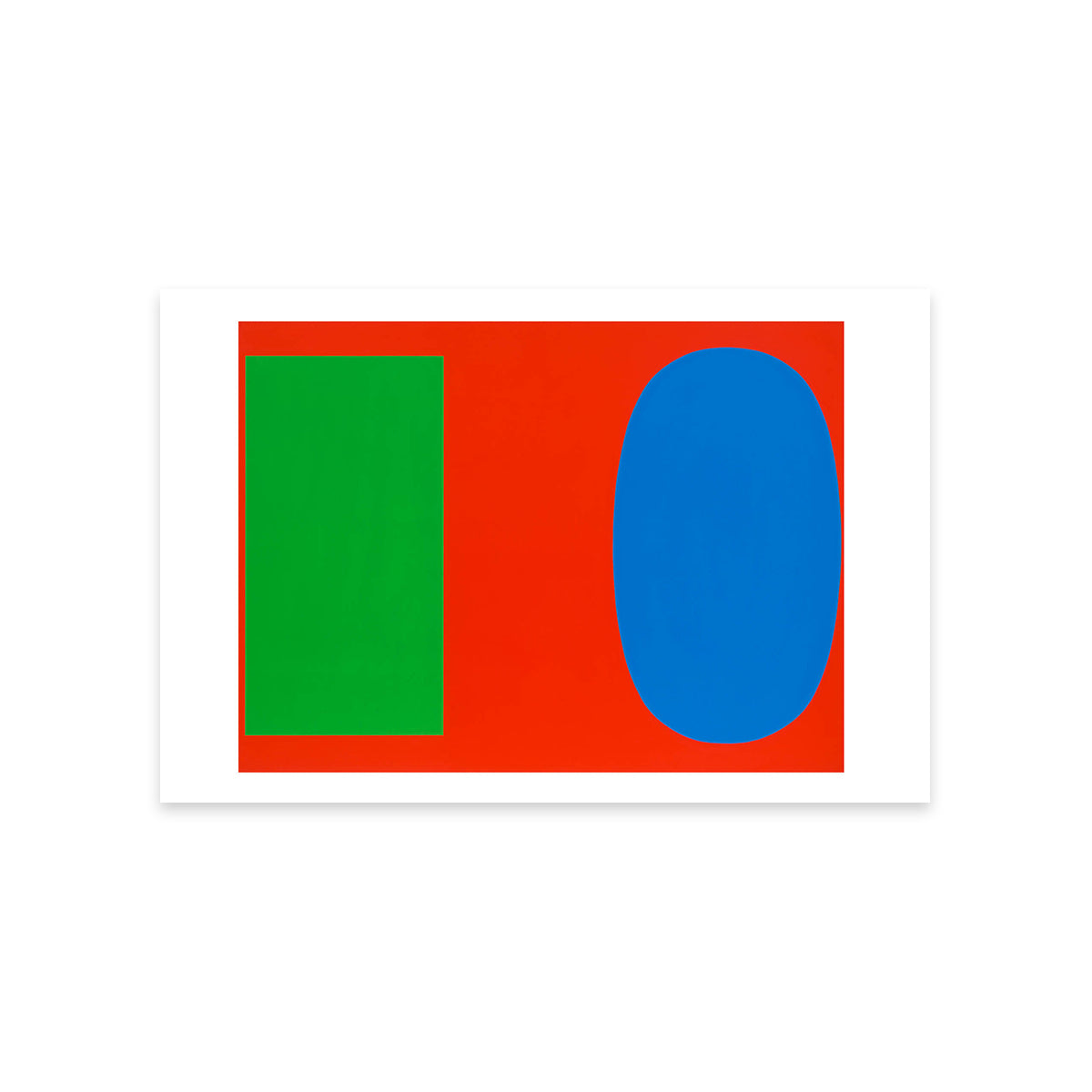 Green Blue Red Postcard