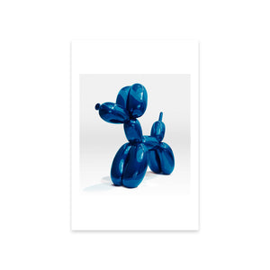 Balloon Dog (Blue) Postcard