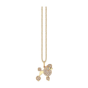 Pave Poode Charm Necklace
