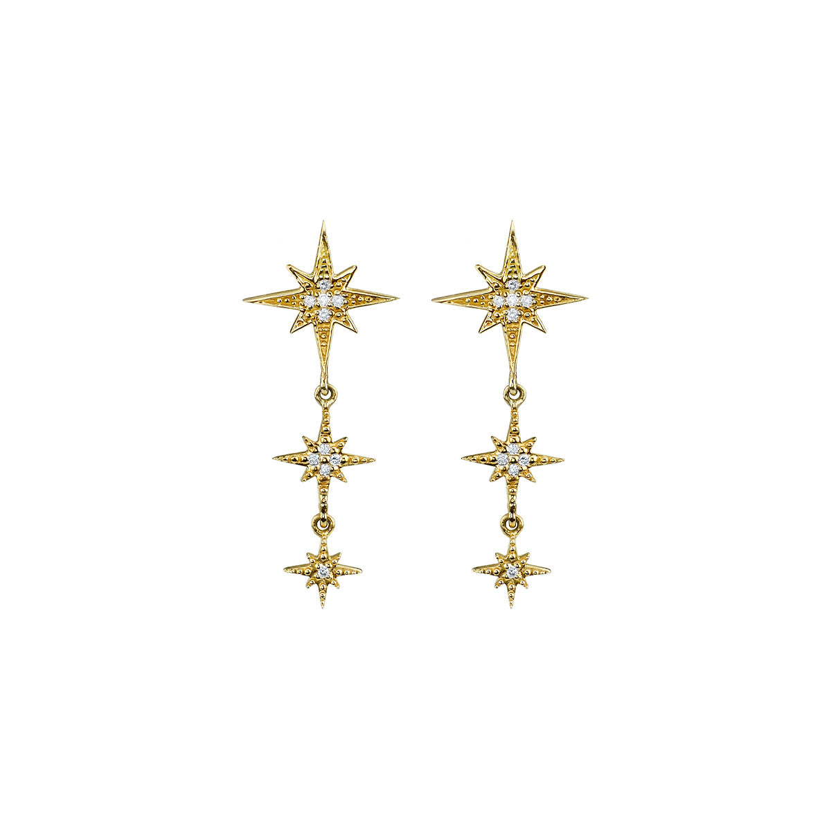 Starburst 3 Drop Earrings