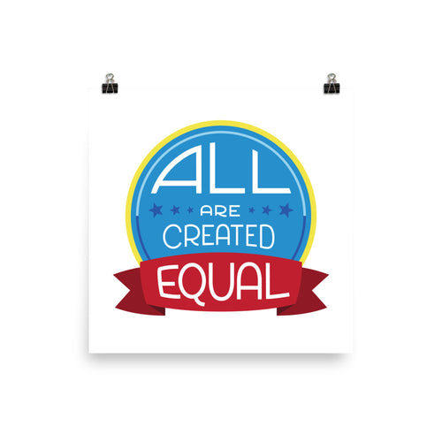 All are created equal - Poster
