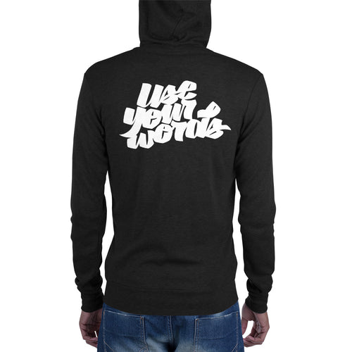 Use your words - Unisex zip hoodie