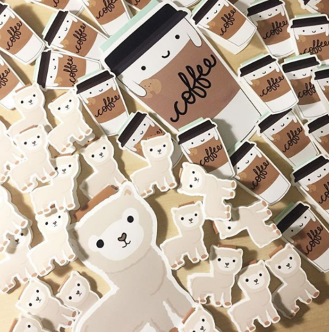 Craftedvan Alpaca and Coffee Bookmarks