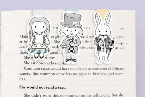 Alice in Wonderland Mini Magnetic Bookmarks (Mini 3 Pack)