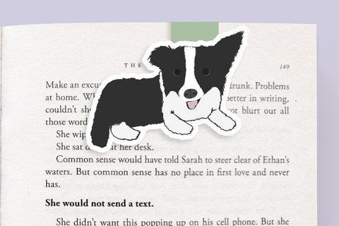 Black and White Dog Magnetic Bookmark (Jumbo)