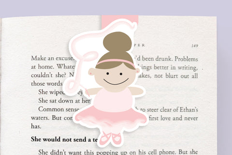 Ballerina Magnetic Bookmark (Jumbo)