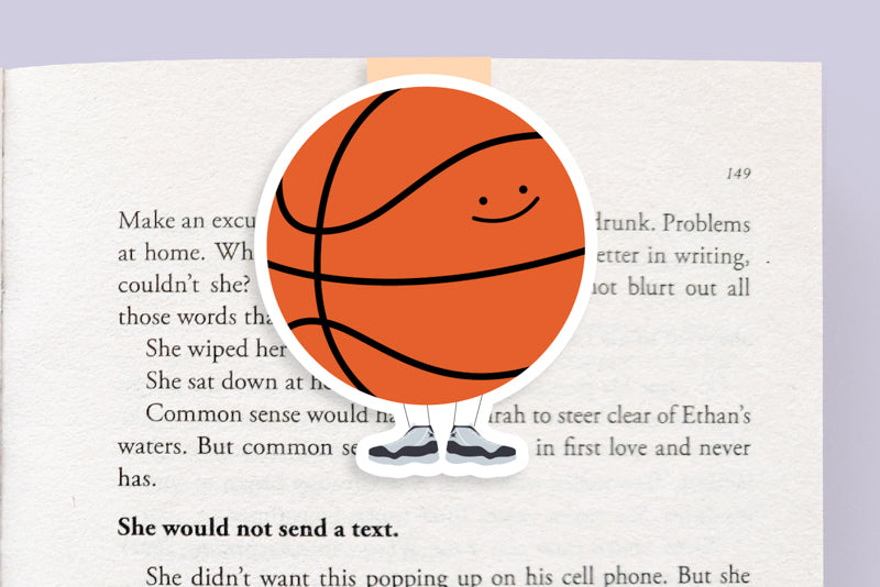 Basketball Magnetic Bookmark (Jumbo)