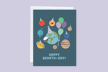 Happy B-Earth Day Greeting Card