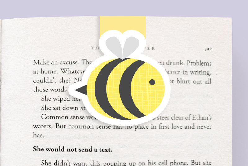 Bee Magnetic Bookmark (Jumbo)