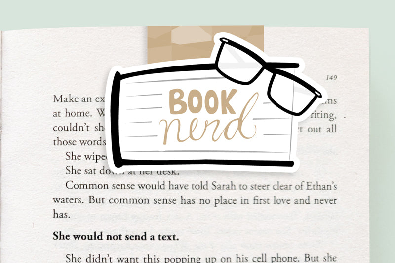 Booknerd Magnetic Bookmark (Jumbo)