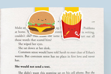 Burger and Fries Mini Magnetic Bookmarks (Mini 2 pack)