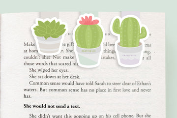 Cactus / Succulent Magnetic Bookmarks (Mini 3 Pack)