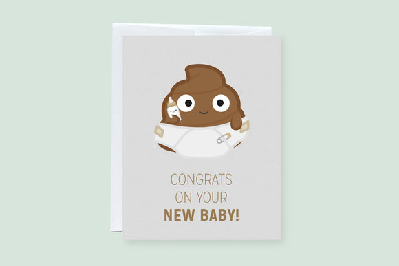 Congrats On Your New Baby - Punny Greeting Card