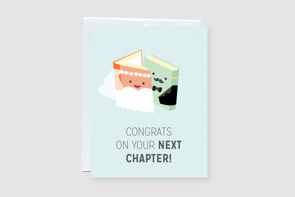 Congrats on your next chapter! - Wedding Card