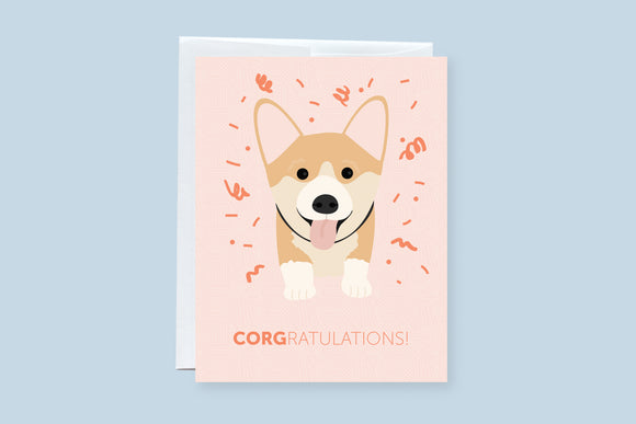 Corgi Congratulation (Corgratulations) Greeting Card