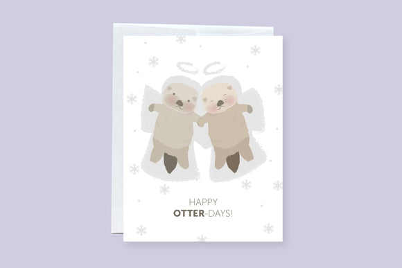 Otters Holiday Greeting Card