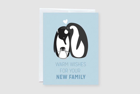 Warm Wishes For Your New Family Greeting Card