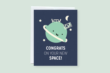New Space Punny Greeting Card