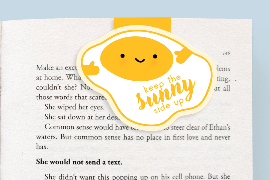 Sunny Side Up Egg Magnetic Bookmark