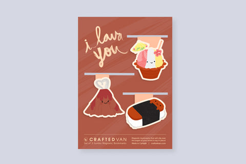 I Lava You Bookmark Gift Set