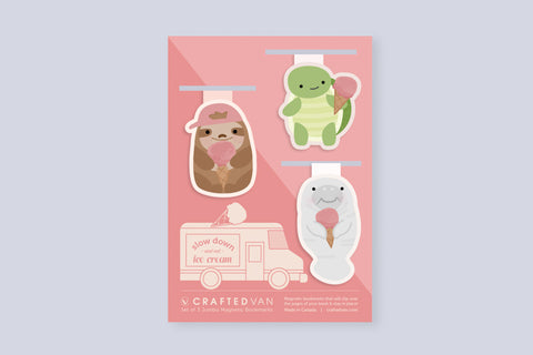 Ice Cream Animals Bookmark Gift Set