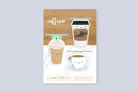 Caffeine Addict Bookmark Gift Set