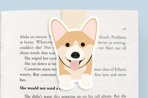 Corgi Dog Magnetic Bookmark (Jumbo)