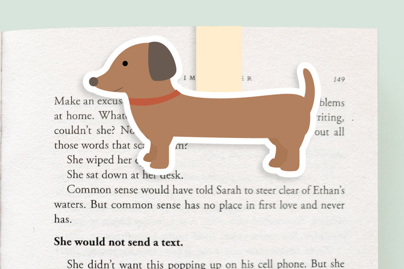 Dachshund Dog Magnetic Bookmark (Jumbo)