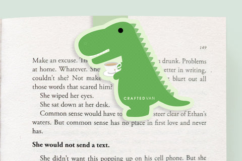 Dinosaur Tea-Rex Magnetic Bookmark (Jumbo)