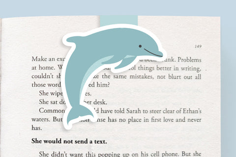 Dolphin Magnetic Bookmark (Jumbo)