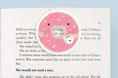 Donut Magnetic Bookmark (Jumbo)