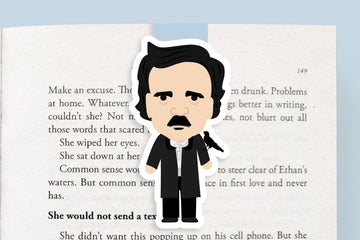 Edgar Allen Poe Magnetic Bookmark (Jumbo)
