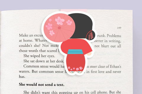 Geisha Magnetic Bookmark (Jumbo)