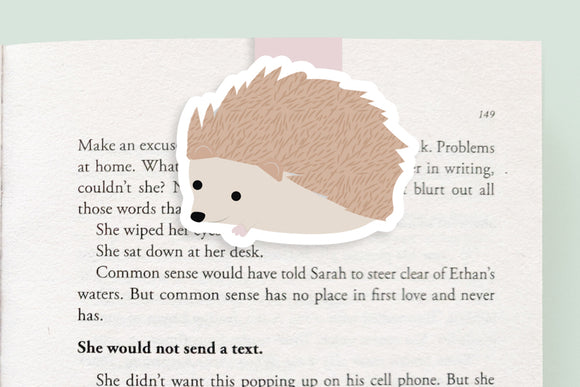 Hedgehog Magnetic Bookmark (Jumbo)